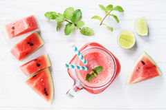 Healthy watermelon drink Royalty Free Stock Photos