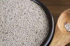 Healthy White Chia Seeds Stock Image