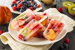 Healthy Whole Fruit Popsicles royalty free stock photo
