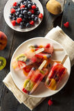Healthy Whole Fruit Popsicles Stock Photography