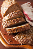 Healthy whole grain bread with carrot and seeds Stock Image