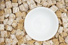 Healthy whole grain cereal with bowl royalty free stock photo