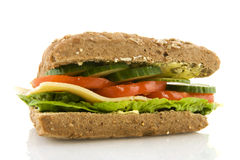 Healthy whole meal sandwich Royalty Free Stock Photos