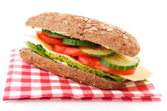 Healthy whole meal sandwich Stock Photo