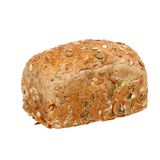Healthy whole wheat bread  isolated Stock Image