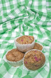 Healthy Whole Wheat Rhubarb Muffins Stock Images