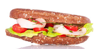 Healthy whole-wheat sandwich Stock Image