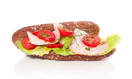 Healthy whole-wheat sandwich Stock Photography