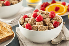 Healthy Whole Wheat Shredded Cereal Stock Photo