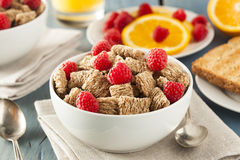 Healthy Whole Wheat Shredded Cereal Royalty Free Stock Images