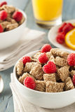 Healthy Whole Wheat Shredded Cereal Royalty Free Stock Photography