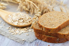 Healthy wholegrain bread Stock Photos