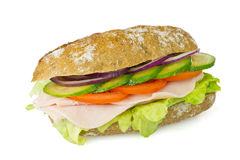 Healthy wholegrain sandwich  Stock Image