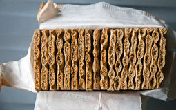 Healthy wholegrain wheat crackers Stock Images