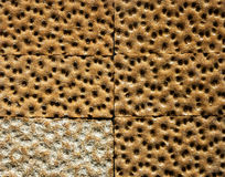 Healthy wholegrain wheat crackers Royalty Free Stock Photos