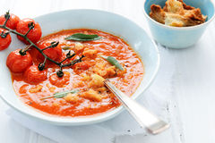 Healthy wholesome diet tomato soup Royalty Free Stock Images