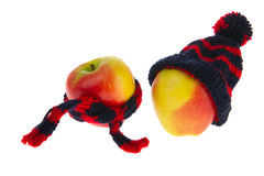 Healthy winter apples Stock Images