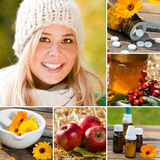 Healthy in the winter Royalty Free Stock Photo