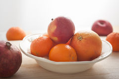 Healthy winter fruits Royalty Free Stock Images