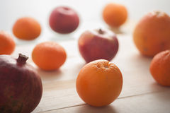 Healthy winter fruits Stock Photos