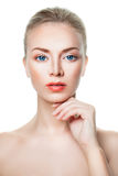 Healthy Woman with Clear Skin, Skincare Concept Stock Photo