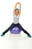 Healthy woman doing fitness exercises Royalty Free Stock Image