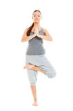 Healthy woman doing yoga Royalty Free Stock Photos