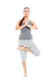 Healthy woman doing yoga royalty free stock photos