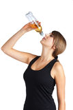 Healthy woman drinking Stock Image