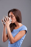 Healthy woman drinking Royalty Free Stock Photo