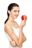 Healthy woman eating Royalty Free Stock Images