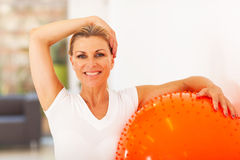 Healthy woman exercise stock photography
