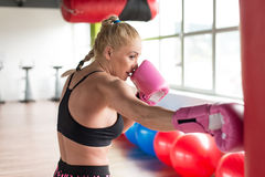 Healthy Woman The Fighter Royalty Free Stock Image