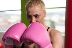 Healthy Woman The Fighter Royalty Free Stock Photo