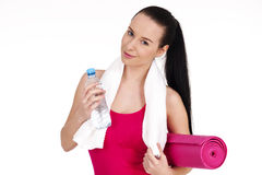 Young female after workout Royalty Free Stock Images