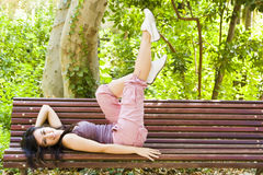 Healthy Woman In The Park Royalty Free Stock Image