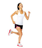 Healthy woman jogging Stock Images