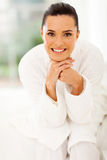 Healthy woman pajamas Stock Image