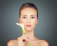 Healthy Woman with Perfect Skin Royalty Free Stock Photography