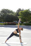 Healthy woman performing yoga Stock Photography