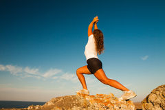 Healthy woman  practice yoga Royalty Free Stock Photography