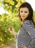 Healthy woman running outside Royalty Free Stock Photography