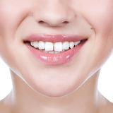 Healthy woman teeth and smile. Close up Royalty Free Stock Photo