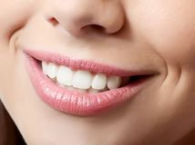 Healthy woman teeth and smile. Close up Royalty Free Stock Photography