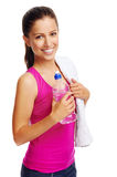 Healthy woman water bottle Royalty Free Stock Photography