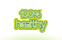 100% healthy word text logo icon typography design Stock Image