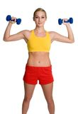 Healthy Workout Woman. Beautiful healthy fit workout woman Stock Photos