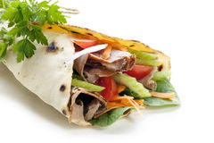 Healthy Wrap Sandwich Royalty Free Stock Photo