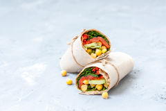 Healthy wraps with salmon Stock Images