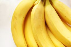 Healthy yellow Detox. Fresh banana royalty free stock image